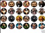 24 x WWE RAW cena etc 1.6 Edible Rice Wafer Paper Cup Cake Top Toppers